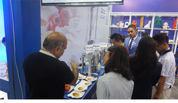 King demeanor - stereoscopic 3D food printer is easy to 118 world debut Fair
