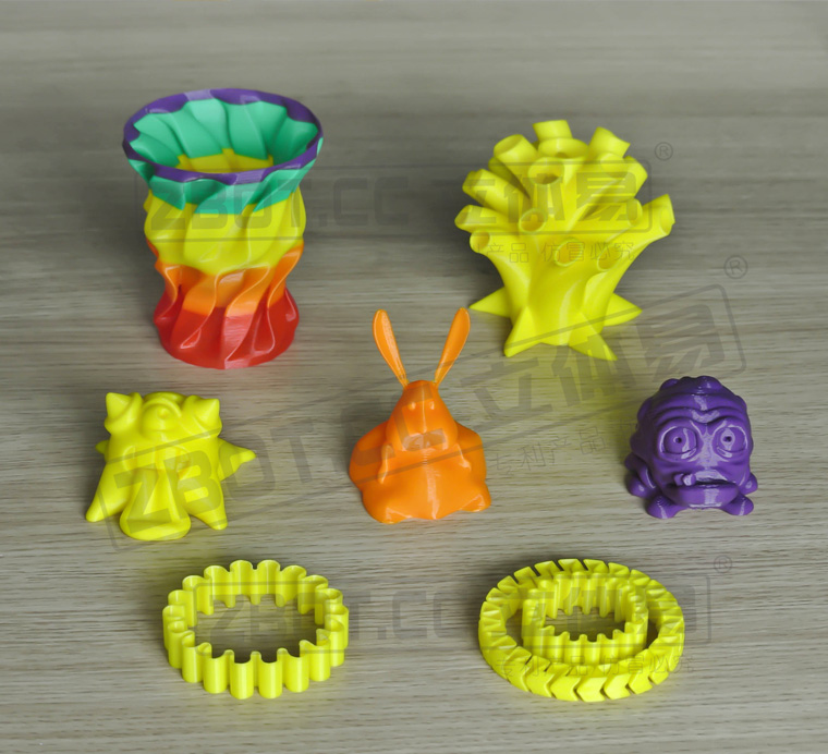 ZBOT 3D printer are widely used in toys, cartoon design industry